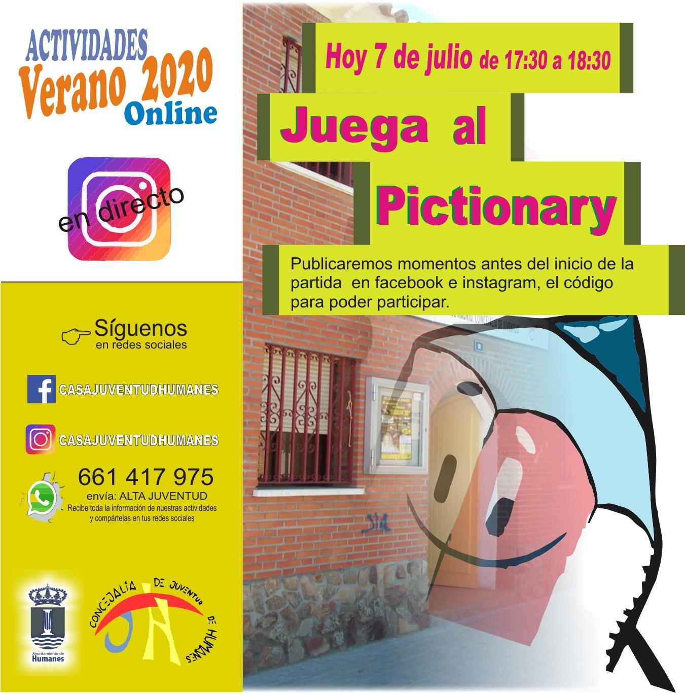 Juventud te invita participar de forma online al Pictionary