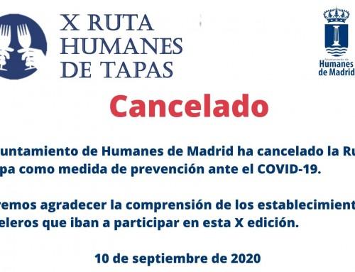 Cancelada la X edición de la Ruta de la Tapa.