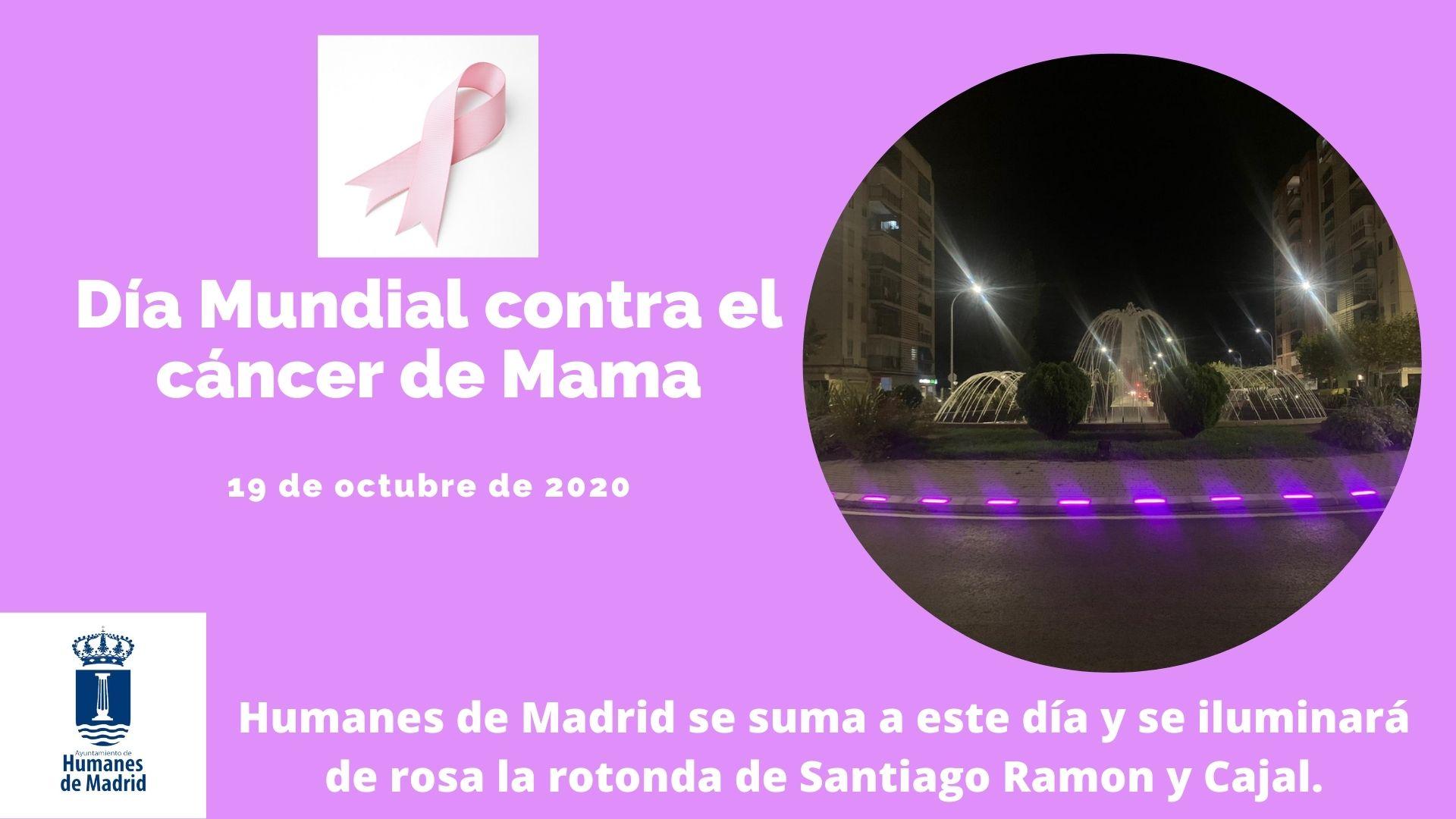 Humanes de Madrid se suma al día Mundial contra el cáncer de mama.