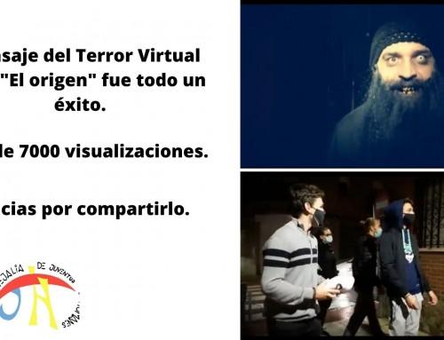 El corto emitido en las redes sociales del Ayuntamiento y Concejalía de Juventud del Pasaje del terror 2020 fue visualizado por más de 7.000 personas.