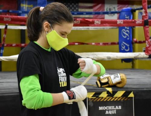 La boxeadora Iratxe Vals del Valle con la selección española para disputar el campeonato de Europa junior.
