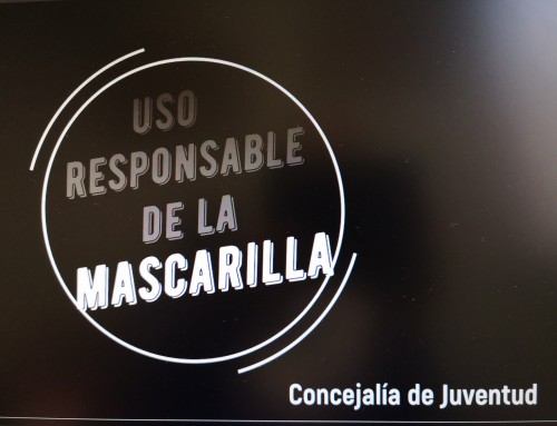 Jóvenes de Humanes de Madrid participan en un vídeo para fomentar el uso de la mascarilla frente al COVID-19.