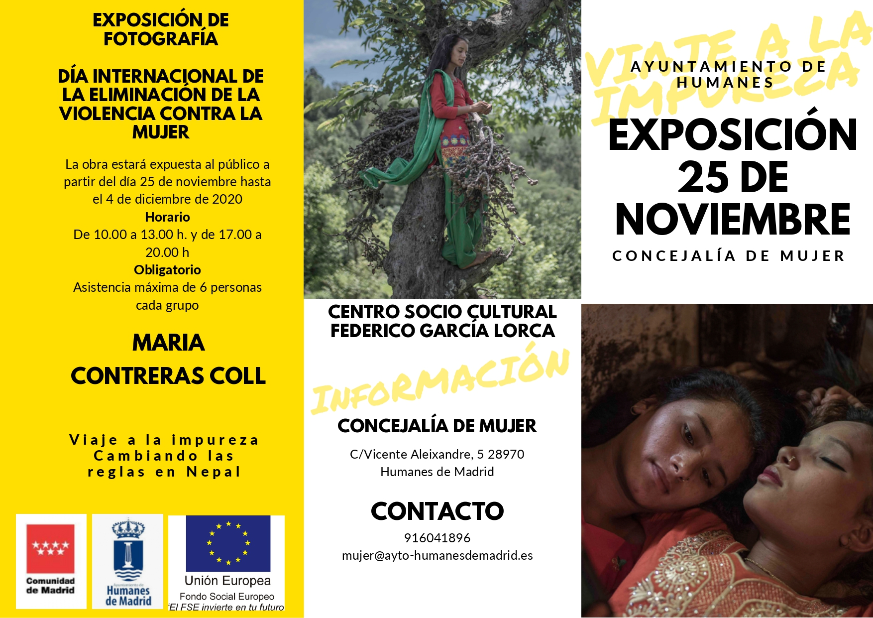Humanes de Madrid se suma al Día Internacional de la Eliminación de la Violencia contra la Mujer.