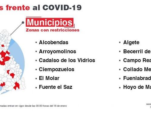 La Comunidad de Madrid amplía las restricciones de movilidad por el coronavirus a otras seis zonas básicas de salud y cinco localidades