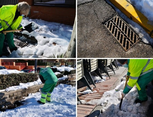 El Ayuntamiento de Humanes de Madrid refuerza la limpieza de los imbornales ante el aviso de intensas lluvias.