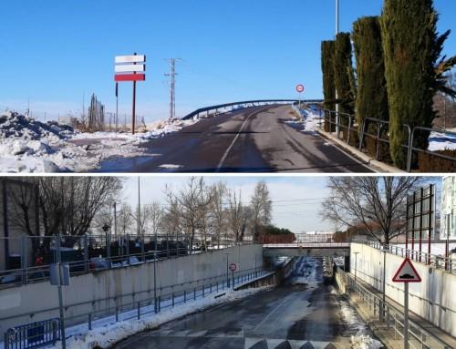 Tareas de retirada de nieve y supervisión de los imbornales.