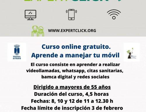 La Concejalía de Mujer oferta un curso gratuito online para aprender el manejo del móvil para personas mayores de 55 años.