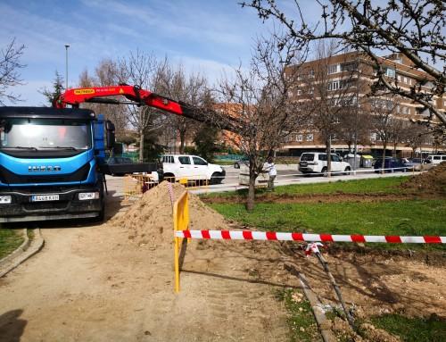 Comienzan las obras en el Parque de los Almendros II