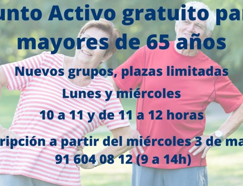 La Concejalía de Mayores oferta dos clases gratuitas de Punto Activo.