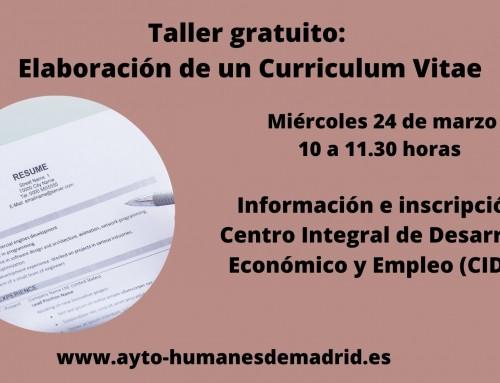 La Concejalía de Empleo y Formación imparte un taller gratuito de elaboración de un curriculum vitae.