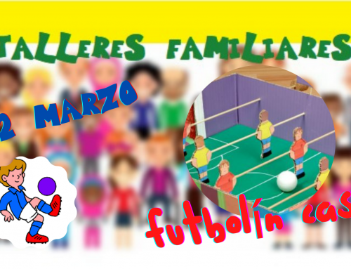 La Concejalía de Infancia organiza un taller gratuito para crear un futbolín.