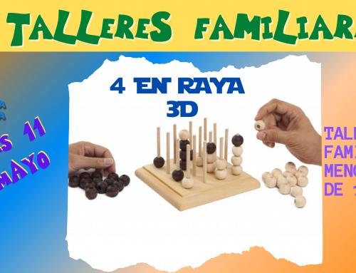 La Concejalía de Infancia organiza un taller familiar presencial de cuatro en raya en 3D para familias con hijos menores de 12 años