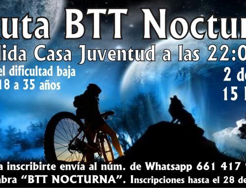 La Concejalía de Juventud organiza una ruta BTT nocturna