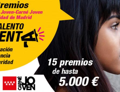 La Comunidad de Madrid reconoce a los jóvenes que participan en proyectos sociales con los Premios Talento Joven