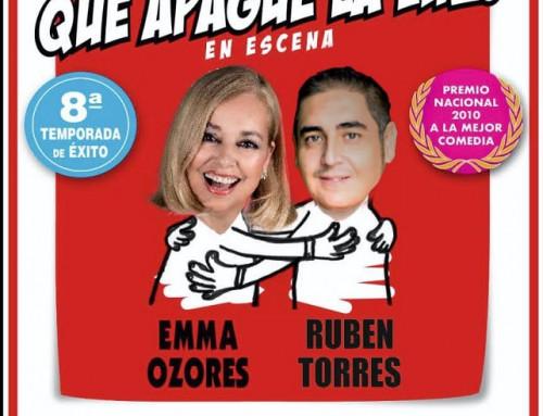«El último que apague la luz» una comedia protagonizada por Enma Ozores y Rubén Torres en el teatro Ana Diosdado